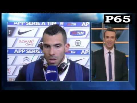 Post partita di Tevez dopo Roma-JUVENTUS 1-1 (02/03/2015)