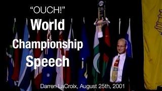 Toastmasters World Championship Speech, Best Speeches Darren