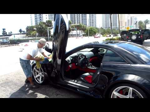 Ice T Car Porn:'the Black Monster' Custom Wide Body Reintech Sl55r At Miami Car Wash video