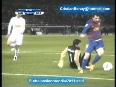 Barcelona 4 Santos 0 Mundial de Clubes 2011 (Resumen Completo) (18/12/2011)