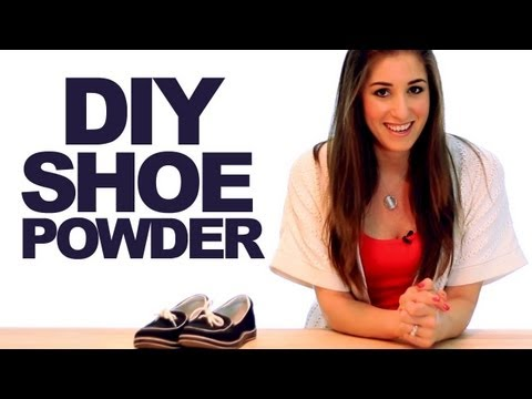 DIY Shoe Powder! Keep Your Shoes Smelling Fresh!