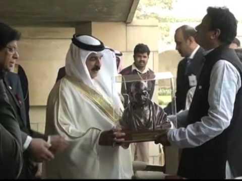 19 feb, 2014 - Bahrain King Pays Tribute To Mahatma Gandhi In New Delhi