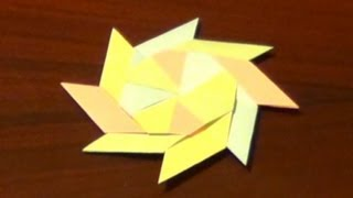 Origami Transforming Ninja Star - How To Make An Origami Transforming Ninja Star
