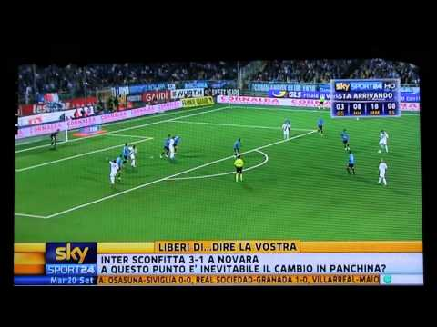Novara-Inter 3-1 SKY HD - Sintesi - Highlights - All Goals - Serie A 2011-2012
