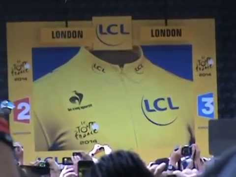 TOUR de FRANCE Stage 3 - Podium Ceremony for Kittel win (07.07.14) Clip 4 of 4