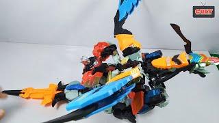 Đồ chơi Siêu Nhân Phép Phuật lắp ráp robot rồng