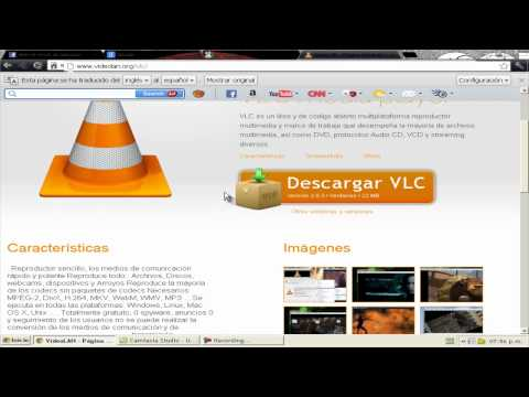 como descargar el exelente reproductor de video y audio vlc media player.