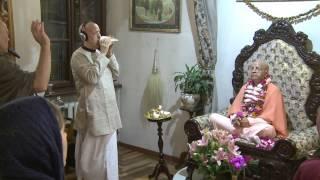 2014.10.24. Deities Greeting, Guru Puja HG Sankarshan Das Adhikari, Kaunas, Lithuania