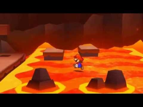 Paper Mario Sticker Star - WALKING ON LAVA GLITCH