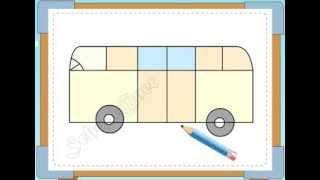 BÉ HỌA SĨ - Thực hành tập vẽ 232: Vẽ xe khách