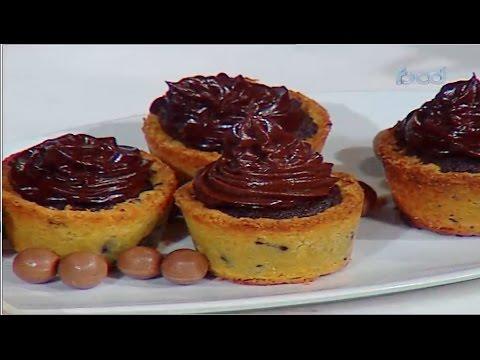 آكواب الكوكيز بحشوه البراونيز-كيكه شوكولاته بدون دقيق| حلقه كاملة  #هيك_نطبخ #فوود