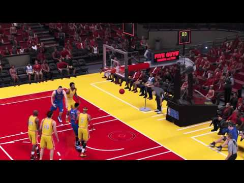 Almost full court shot by CPU