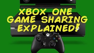 Xbox One my home xbox/Digital game sharing explained!