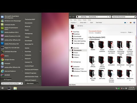 Ubuntu Theme for Windows 7 - Maverick Theme Review