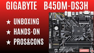 GIGABYTE B450M-DS3H FOR RYZEN ★ UNBOXING / HANDS-ON / PROS&CONS
