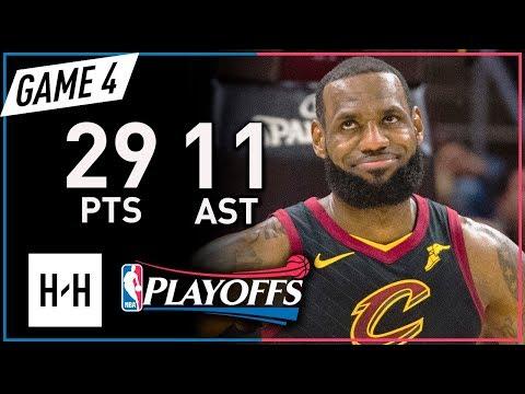 LeBron James Full Game 4 Highlights vs Raptors 2018 Playoffs ECSF - 29 Pts, 11 Ast, 8 Reb, SWEEP!