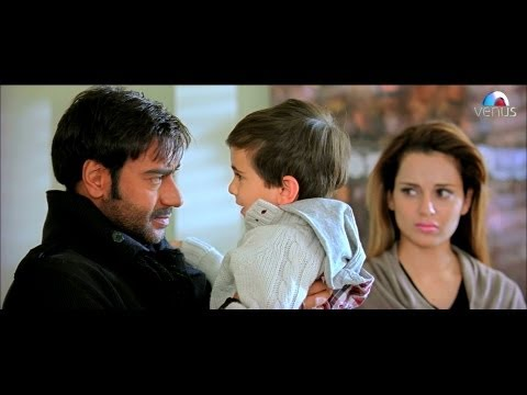 Ajay Devgan Meets His Wife Kangna Ranaut & His Son (tezz) video