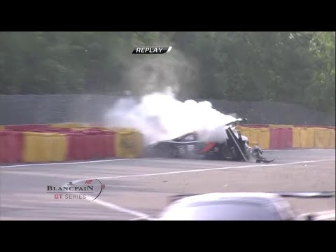 Karim A Ojjeh Big Crash @ 2014 Spa 24H