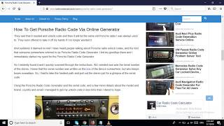 Porsche Radio Code Generator Available For Free Download