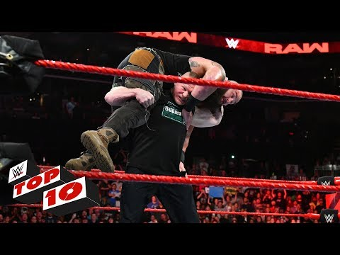 Top 10 Raw moments: WWE Top 10, October 29, 2018 thumbnail