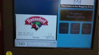 IBM Self-Checkout Register @ Hannaford (Twin City Plaza, Leominster, MA)