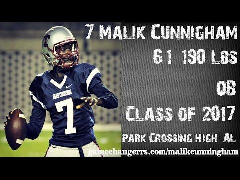 Malik Cunningham – 2017 Athlete – Dual threat QB – Park Crossing HS, Montgomery, AL (Photo courtesy of Gamechangers.com Youtube)