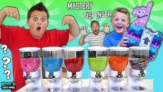 MYSTERY CANDY TOY DISPENSER ROULETTE GAME! FUN FUN FUN TOYS!