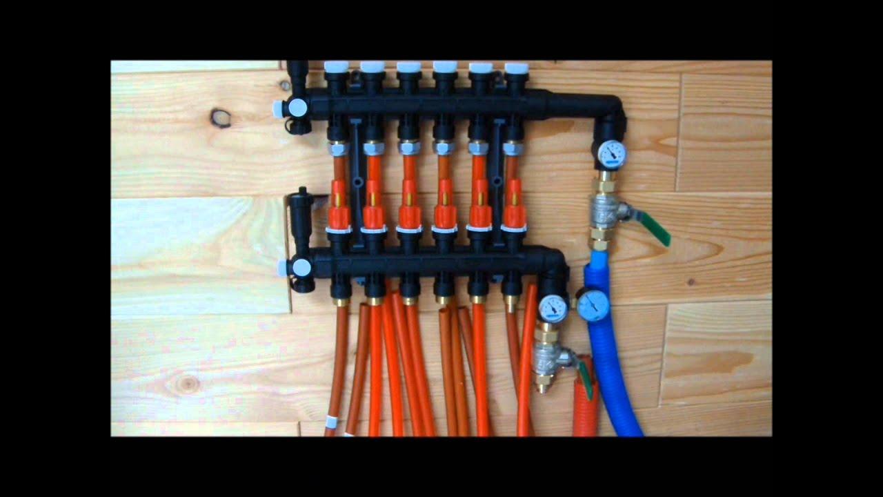Pil 39 top raccordement du collecteur plancher chauffant youtube - Derouleur plancher chauffant ...
