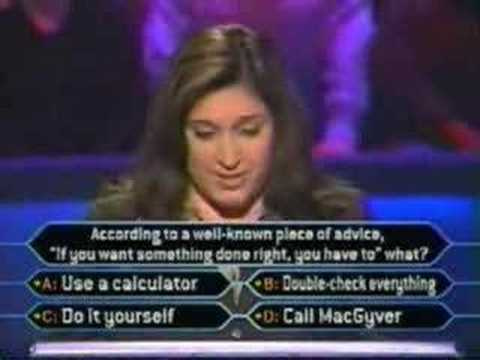 Stupid Person on Millionaire - YouTube