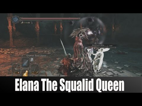 Dark Souls 2 Crown Of The Sunken King Elana The Squalid Queen Boss Fight video