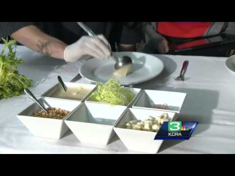 Formaggio chef whips up asparagus salad