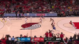 3rd Quarter, One Box Video: Portland Trail Blazers vs. Golden State Warriors