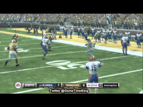 NCAA Football 13 Gameplay: Tim Tebow Heisman Challenge - Florida vs. Tennessee