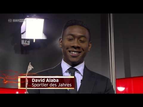 David Alaba Österreichs Sportler des Jahres 2014 Verleihung