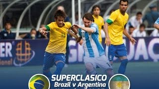 Brazil vs Argentina  Super clasico 2014 Full match (1stHalf)