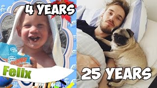 How PewDiePie changed himself (Felix Kjellberg) | Как менялся PewDiePie (Пьюдипай)