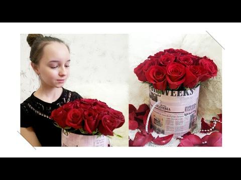 Роза в коробке своими руками 46