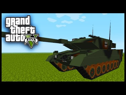 Minecraft - GTA V Mod - Grand Theft Auto 5 - EPIC TANKS!