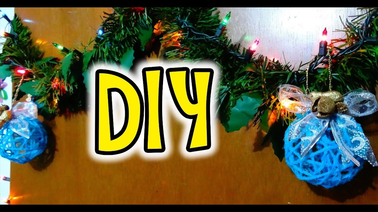 Diy esferas para navidad de estambre idea 4 reciclando - Esferas de navidad ...