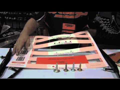 Woody's Traction Tips - Use a template when studding.