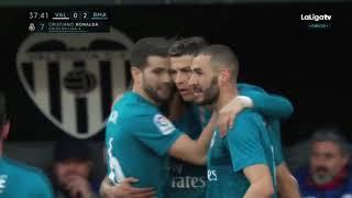 Valencia vs Real Madrid 1 4 All Goals Extended Highlights Resumen y Goles 27012018 HD
