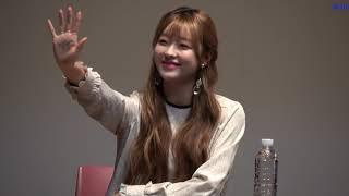 20181014 001 오마이걸(유아) 팬사인중 마무리 아트홀봄(181014)