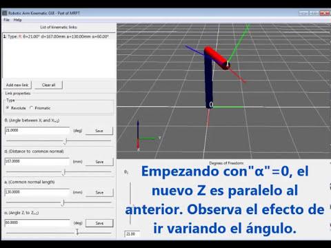 Tutorial: Parámetros Denavit Hartenberg (DH) (con software libre)