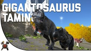 GIGANTOSAURUS RIDING/TAMING - Ark Survival Evolved (Part 29: Ark Fear Evolved)