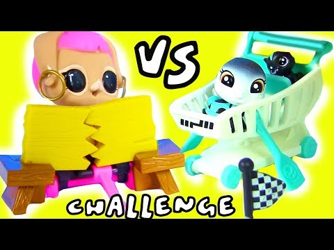 #ЧЕЛЛЕНДЖ ЛОЛ ПИТОМЦЕВ vs ЛПС ПЭТОВ! LOL SURPRISE PETS VS LPS Littlest Pet Shop Challenge Игрушки