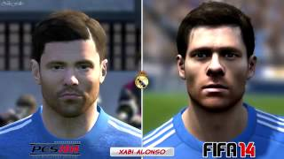 FIFA 14 vs PES 14   Head to Head Faces   REAL MADRID
