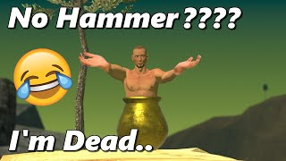 Getting Over It Without The Hammer - MODDED Getting Over It With Bennett Foddy