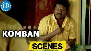 Komban Movie || Kovai Sarala scolds Thambi Ramaiah, Karthi Scene