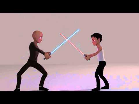 Star wars animation lightsabers