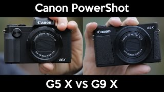 Canon PowerShot G5 X vs. G9 X | hands on | impression | English review